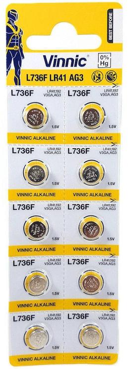 Vinnic AG3 L736F LR41 Batteries 10x