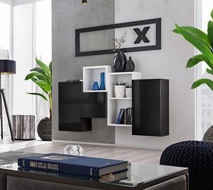 ASM Blox SB III Hanging Cabinet Set Black/White