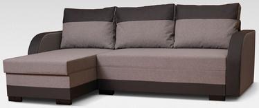 Угловой диван Platan Emil Brown, 230 x 140 x 80 см