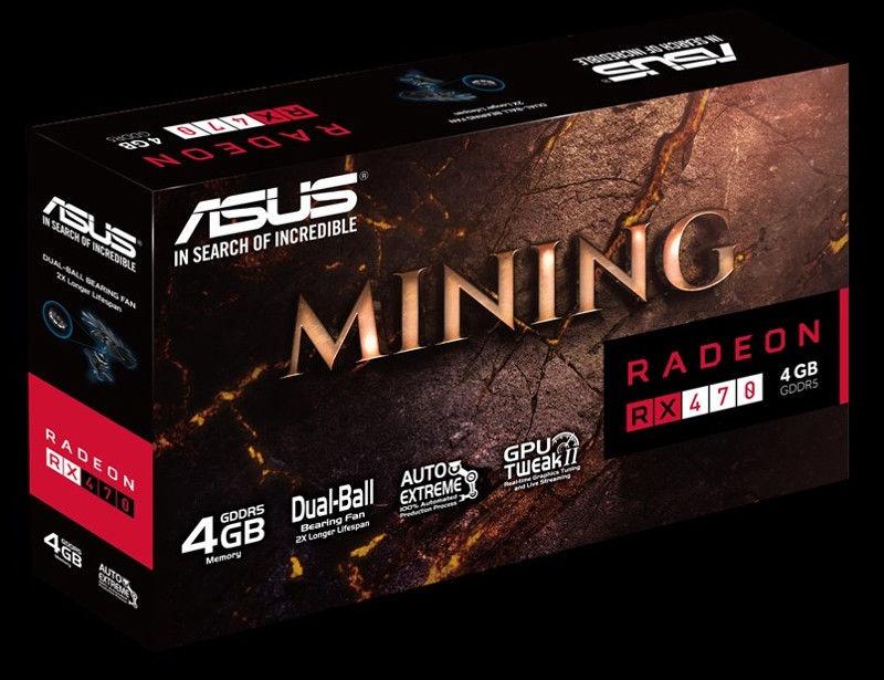 Asus AMD Radeon RX470 Mining 4GB GDDR5 PCIE MINING-RX470-4G