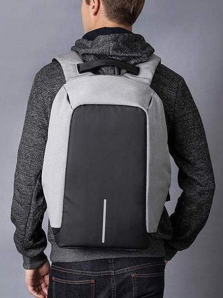 Bobby Anti-Theft Backpack Grey