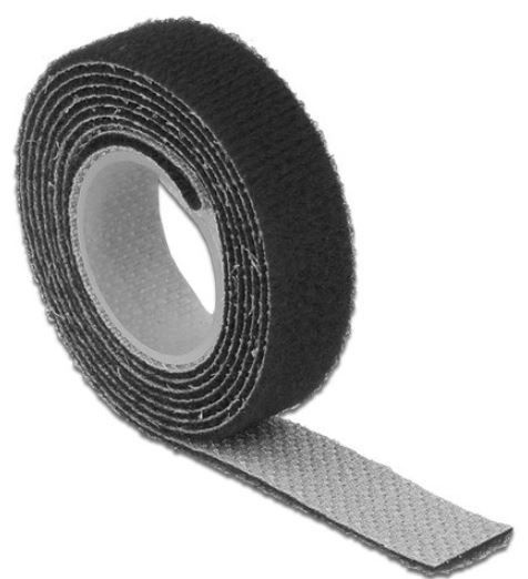 Delock Cable Management Velcro 1m x 13mm Black