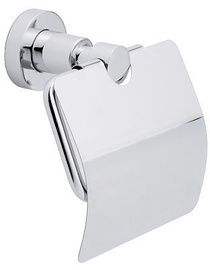 Tesa Loxx Moder Toilet Roll Holder With Lid Chromed Metal 40273