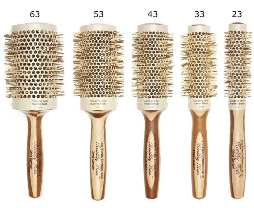 Olivia Garden Healthy Hair Round Bamboo Thermal Brush 53mm