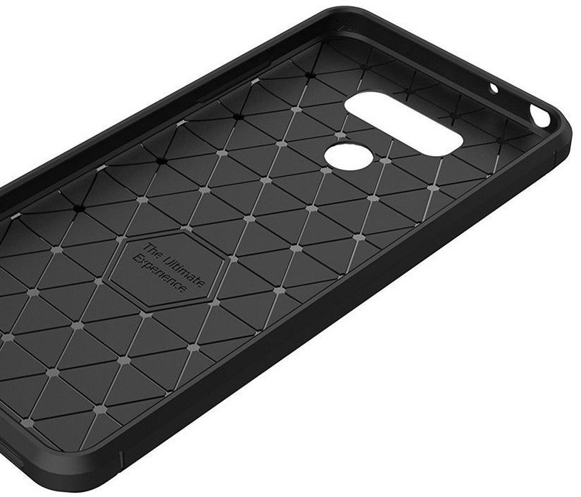 Hurtel Carbon Back Case For LG G6 Black