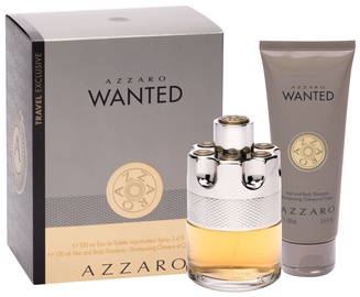 Набор для мужчин Azzaro Wanted 100 ml EDT + Hair & Body Shampoo 100 ml