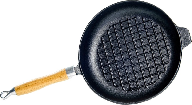 Fissman Grill Pan Cast Iron With Wooden Handle 23x4cm 4095
