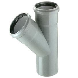 Тройник диаметр – 50/110 мм 45°