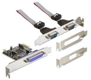 Delock PCI Express Card  2 x Serial RS-232 / Parallel DB25