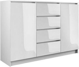 Top E Shop Chest of 2 Doors 4 Drawers Gloss White