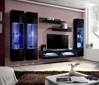 ASM Fly P8 Living Room Wall Unit Set Black