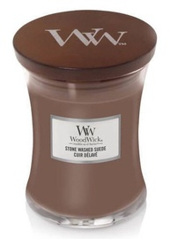 WoodWick Stone Washed Suede Candle 275g Brown
