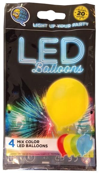 Wakadabaloon LED Balloons 4pcs