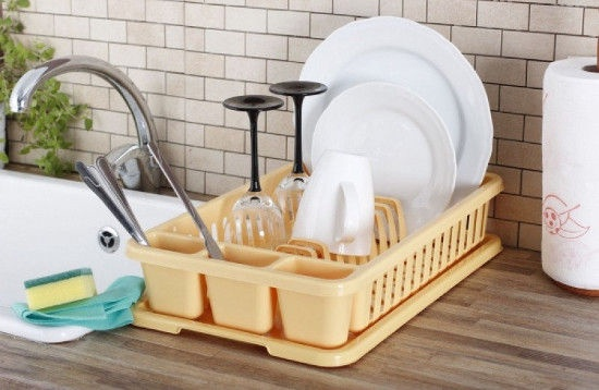 Curver Dish Dryer 26.5x42x8.8cm Yellow