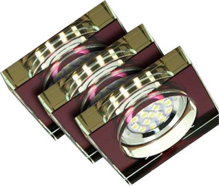 Candellux SS-16 Downlight 3X3W GU10 Set Of 3 Luminaires Square Purple