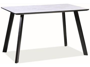 Обеденный стол Signal Meble Samuel White/Black, 1200x800x750 мм