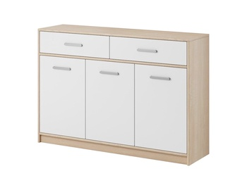 Комод WIPMEB Tulia 3D 2S Sonoma Oak/White, 123.2x34.3x85 см