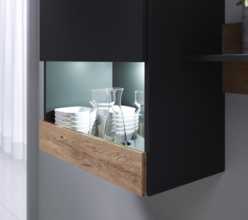Cama Meble Wall Unit PAT Black/Oak 180x39cm