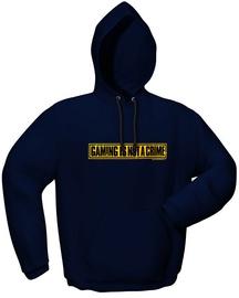 GamersWear Not A Crime Hoodie Navy L
