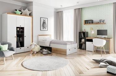 Комплект мебели для детской комнаты Szynaka Meble Riva White/Oak/Black