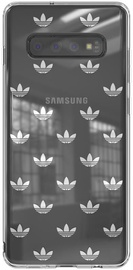 Adidas Snap Entry SS19 Back Case For Samsung Galaxy S10 Plus Silver