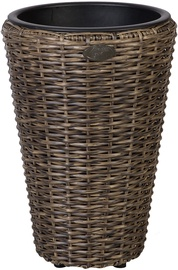 Home4you Flower Pot Wicker 28x40cm Dark Brown 35122