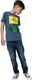 Audimas Junior Short Sleeve Tee Blue Printed 128cm