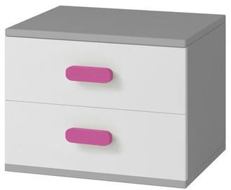 Ночной столик Idzczak Meble Smyk II 22 Grey/Pink