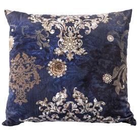 Home4you Holly Pillow 65x65cm Blue Valvet