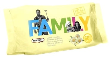 Merkant For All Family Wet Wipes 60pcs