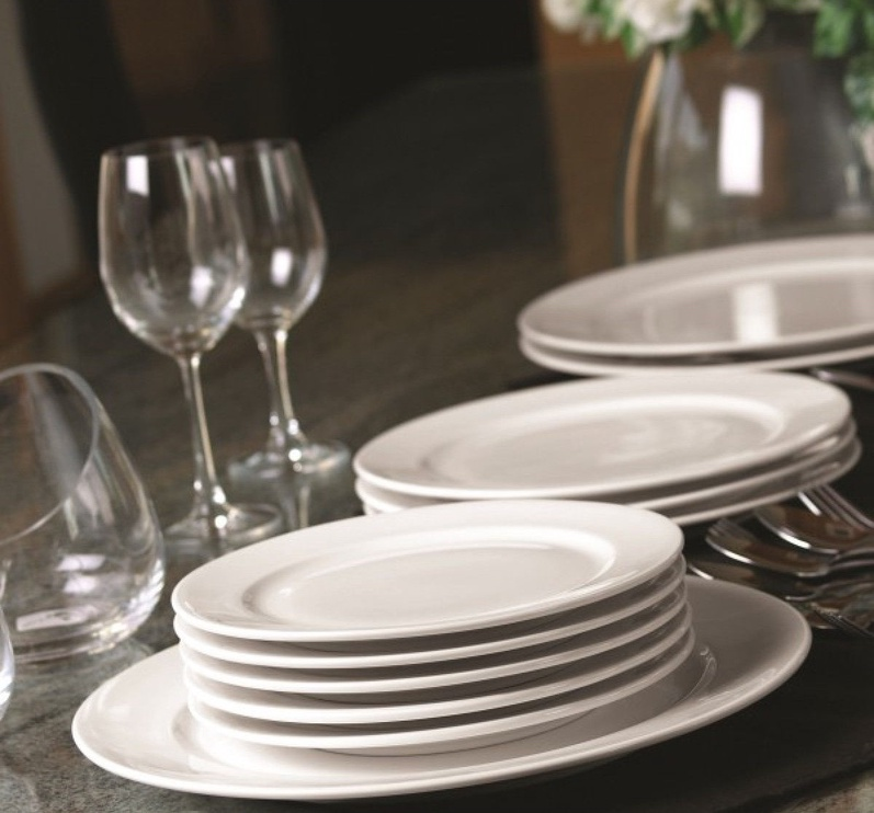 Leela Baralee Simple Plus Dinner Plate with Rim 25cm