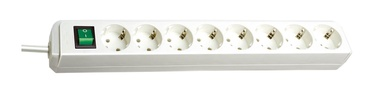 Brennenstuhl Power Strip 8-Outlet 250V 16A 3m White