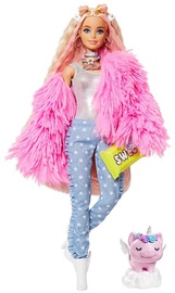Mattel Barbie Extra Doll Pink Coat With Pig Unicorn GRN28