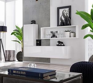 ASM Blox SB IV Hanging Cabinet Set White