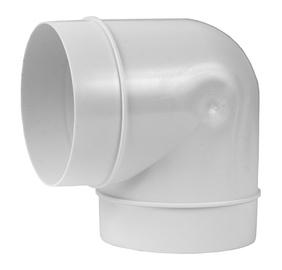 Ventilatsioonitoru põlv, 100 mm, 90°, plast