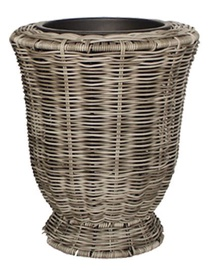 Home4you Flowerpot Wicker D28x32cm Grey
