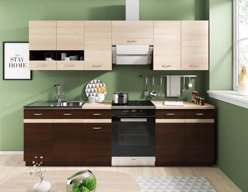 Верхний кухонный шкаф WIPMEB Livia LV-03/G40 W Sonoma Oak, 400x285x575 мм