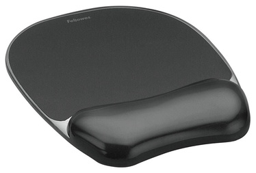 Fellowes Crystal Gel Wrist Rest Mouse Pad Black