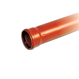 Magnaplast Sewer Pipe Brown 110mm 1m