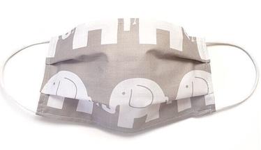 MamoTato Child Face Mask With Filter Pocket Grey Elephant