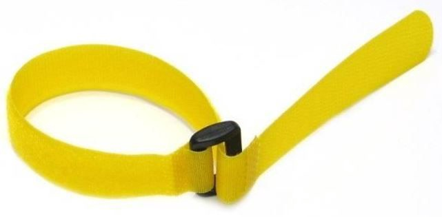 Techly Cable Tie Straps 300x20mm 10pcs Yellow