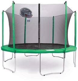 Tesoro Garden Trampoline 312cm Net/Ladder With Basketball Green