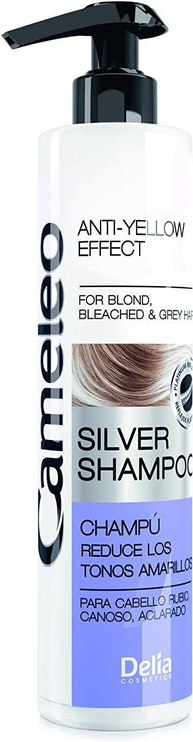 Delia Cameleo Silver Shampoo Anti-Yellow Effect Blond Bleached & Gray Hair 250ml