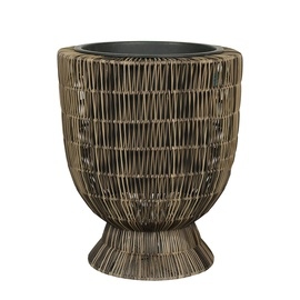 Home4you Wicker Flowerpot D42x50cm Brown