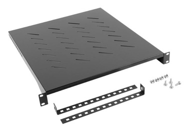 Lanberg Fixed Shelf 19'' 483 x 500mm Black