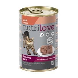 Konserveeritud kassitoit Nutrilove Delicious Pate, pardilihaga, 400 gr