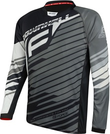 Force Downhill Jersey Black/White/Grey L
