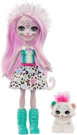 Nukk Mattel Enchantimals Sybill Snow Leopard & Flake GJX42