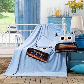 Одеяло DecoKing Cuties Sky Blue Owls, 110x160 см