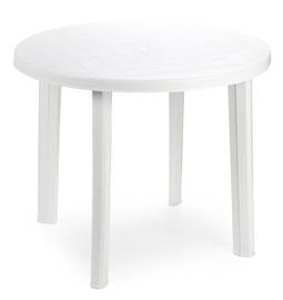 Садовый стол Diana Tondo 90600, белый, 90 x 90 x 72 см